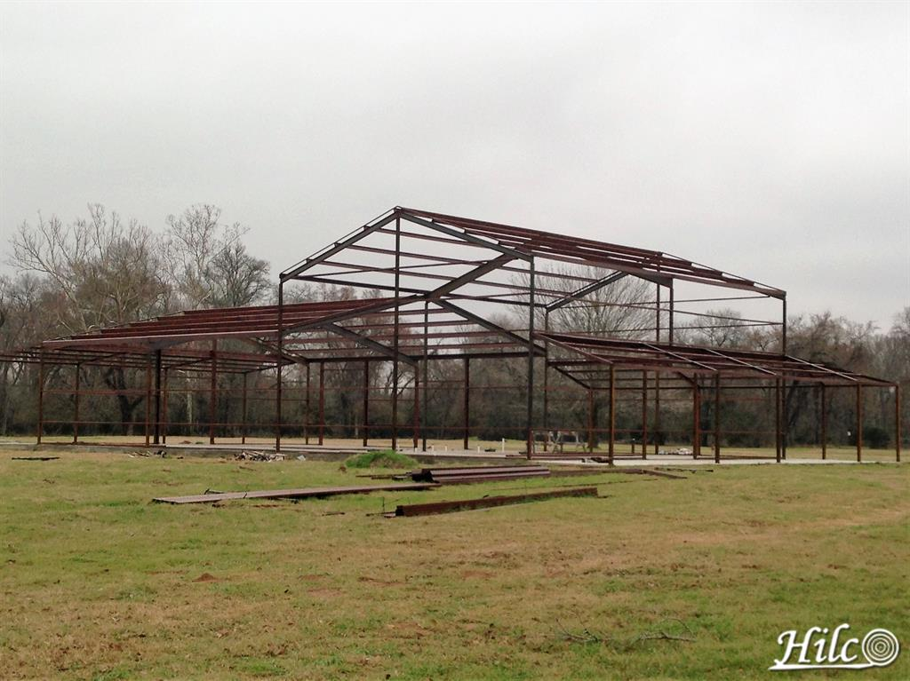 Frame of Steel Building Under Construction