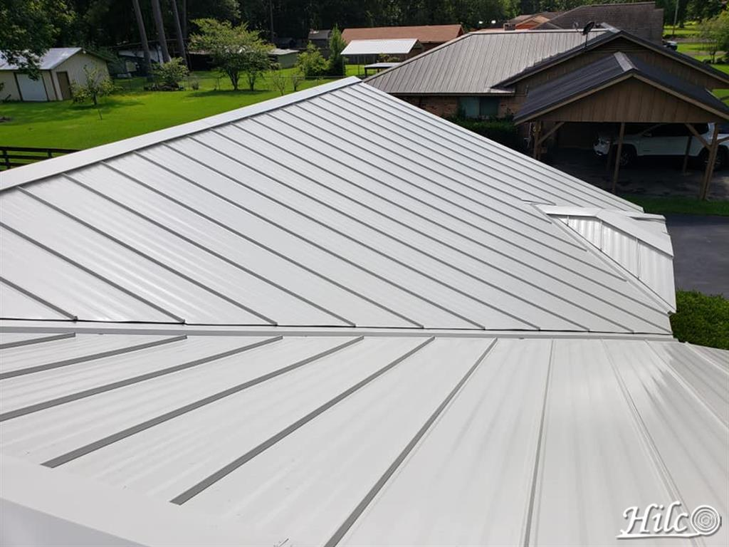 Gray Metal Roofing