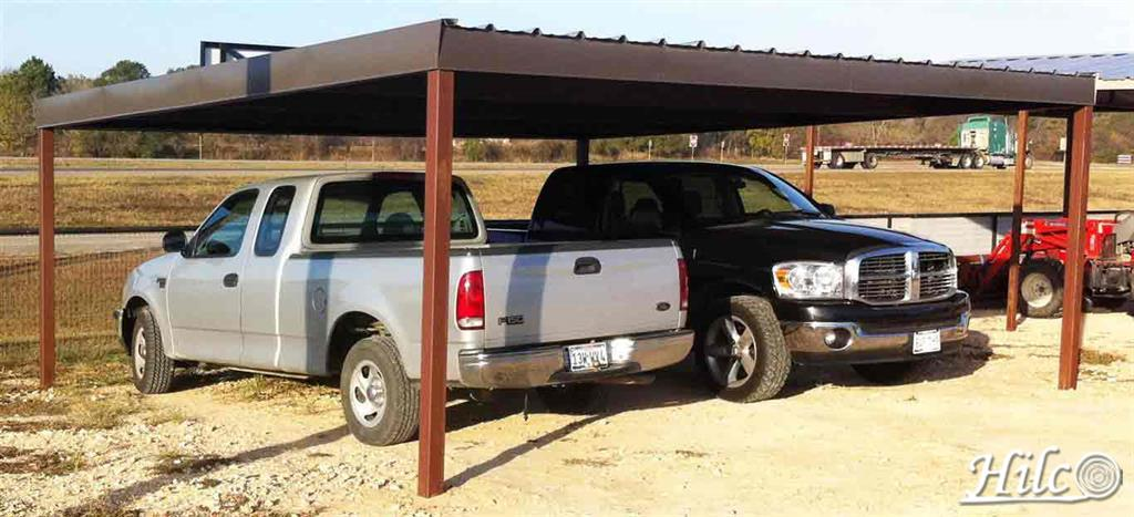 Steel Single-slope Carport