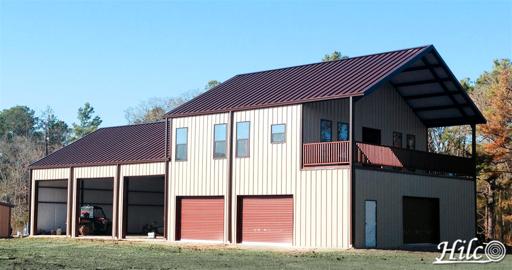 Two story metal barndominium