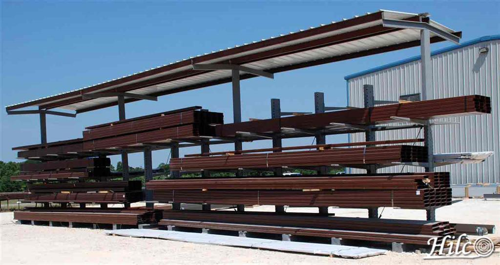 Steel Beams on Rack